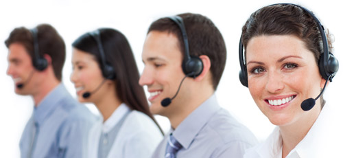 Hosted and cloud-based call centers