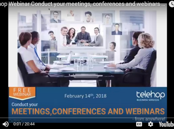 Conduct your meetings, conferences and webinars - from anywhere